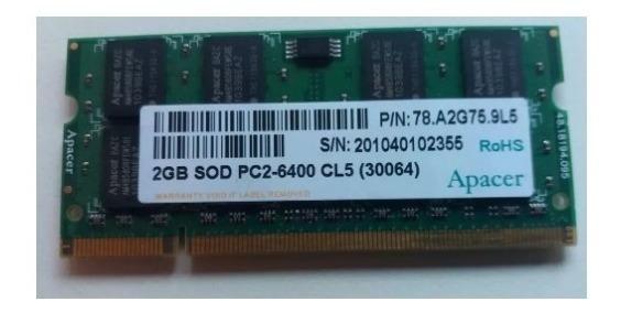 Memoria Ram 2 Gb Para Not Book Pc2-6400