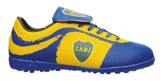 Botines Boca Juniors Originales Talles 28 Al 39