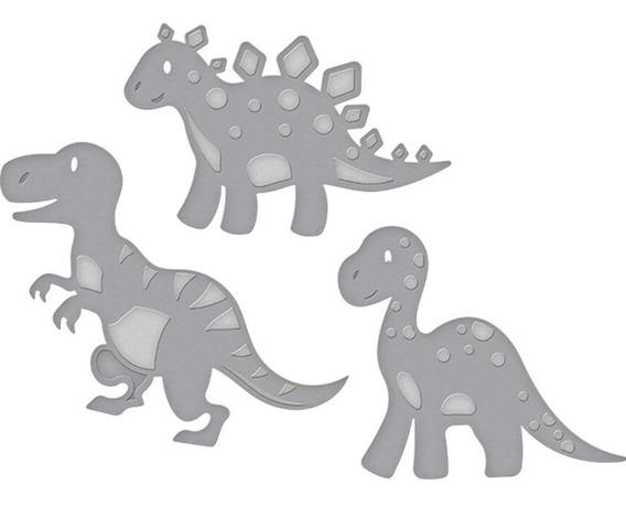 Suaje Cortar Papel Dinosurios Troquel Scrapbook Sizzix