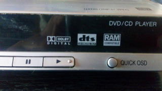 Reproductor Dvd-cd Panasonic 529la Con Control Remoto