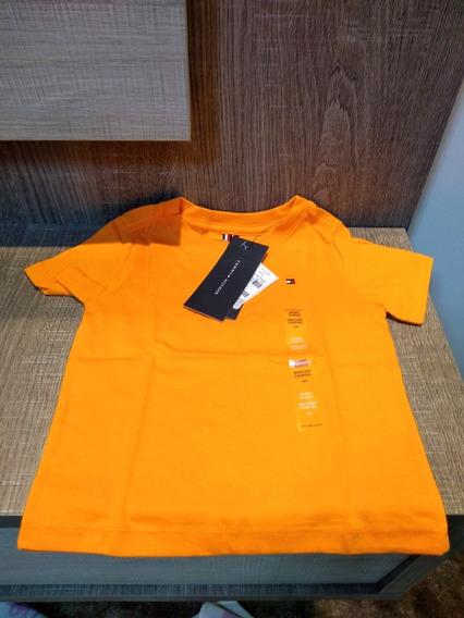 Camiseta Infantil Tommy Hilfiger Kids Laranja - Original