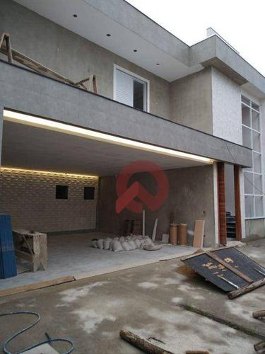 Imagem 1 de 23 de Sobrado Com 5 Dormitórios À Venda, 460 M² Por R$ 2.500.000 - Canto Do Forte - Praia Grande/sp - So0068