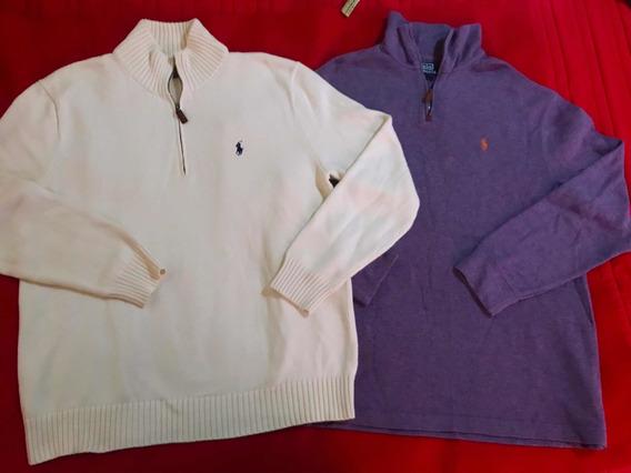 Lote 2 Suéteres Polo Ralph Lauren Original Talla L/ Lacoste