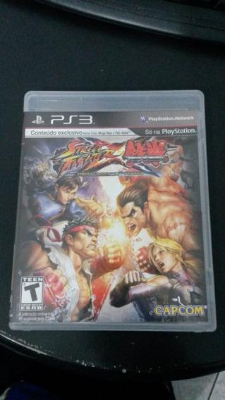 Street Fighter X Tekken Ps3 Midia Fisica Semi Novo