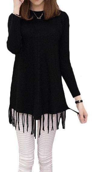 Sweater Cardigan Flecos Manga Larga Estandar Elasticado Wome