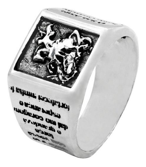 Anel São Jorge Guerreiro E Oração Em Prata De Lei 925 4537