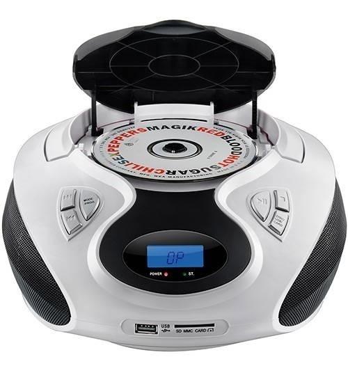 Rádio Portátil Boombox 20w Rms Cd/usb/sd/fm/aux Sp181