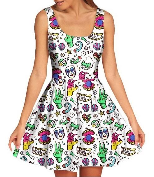 Vestido Feminino Doll Boneca Lady Gaga Artpop Tumblr 3d