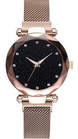 Relógio De Luxo Pulseira Com Ima Magnético Céu Estrelado