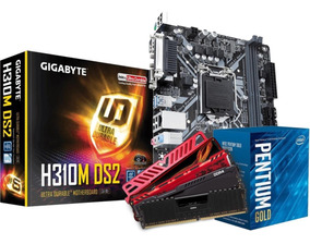 Kit Intel Pentium G5400 Mb H310m Ds2 4gb Ddr4 2400mhz