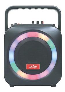 Combo Karaoke Parlante Portatil Usb + Luces Dj + 1 Microfono