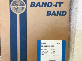 Band-it C40599 Banda De Acero Inox. Sin Rev. De 5/8 X 100