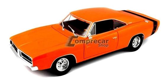 Miniatura Dodge Charger R/t 1969 Laranja Maisto 1/18