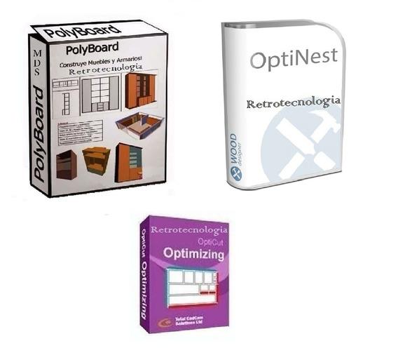 Polyboard+opticut+optinest-soft Muebles Entrega En El Acto!!