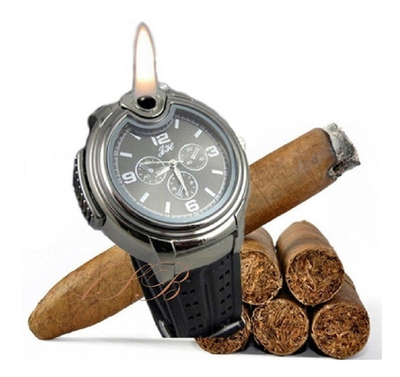 Relógio Isqueiro De Pulso Militar Aço Inoxidável