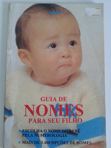 Livro - Guia De Nomes Para Seu Filho - 3.400 Nomes