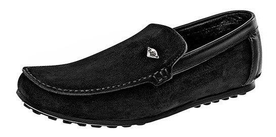 Zapato Casual Niño Pk 48551 Piel Rooster Negro