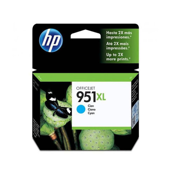 Cartucho Hp 951xl Ciano 17ml - Cn046ab