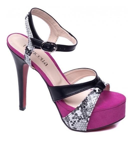 Sapato Salto Alto Fino Feminino Meia Pata Para Festas