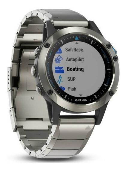 Relógio Multiesportivo Garmin Quatix 5 Safira Prata Com Mo