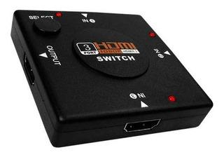 Switch Hdmi 3 Puertos Selector De Cables 1080p Splitter /e