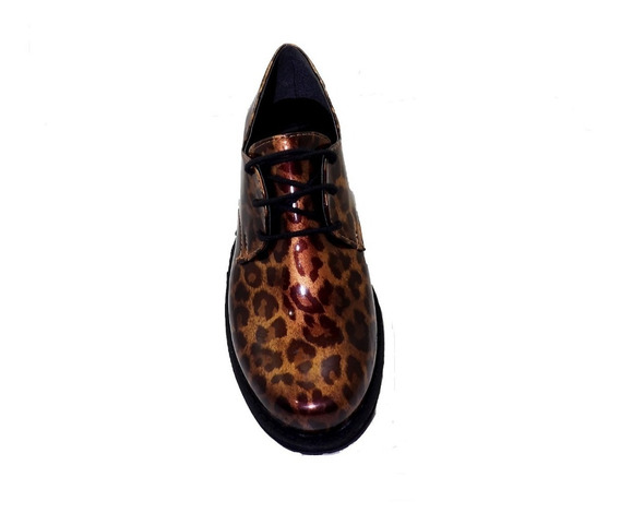 Mocasin Eco Cuero Charol Animal Print