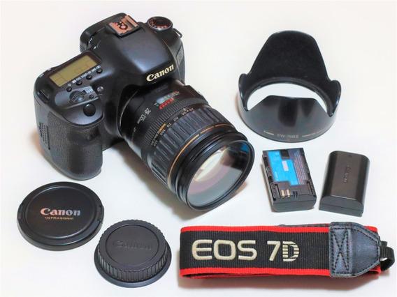 Canon 7d 55k Clicks + Ef 28-135mm F/3.5-5.6 Is + Bat + Acess