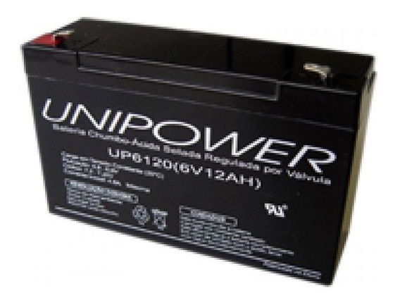Bateria Selada Unipower Up6120 6v 12ah Skd F187