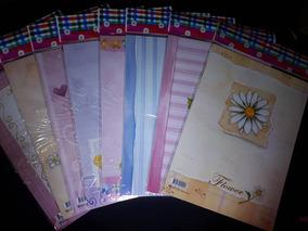 Lote C/9 Bloco De Papel De Carta Flores Flor Rosas Perfumado