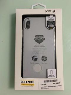 Capa Pong iPhone Xs Max Defendis Transparente