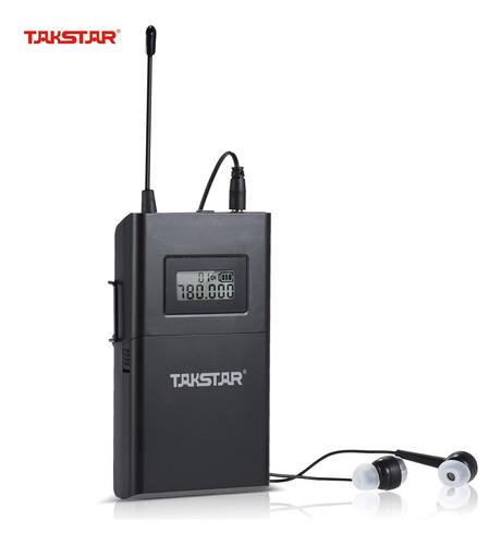 Imagen 1 de 7 de Takstar Wpm-200r Uhf Receptor Sistema Audio Sin Hilos Lcd