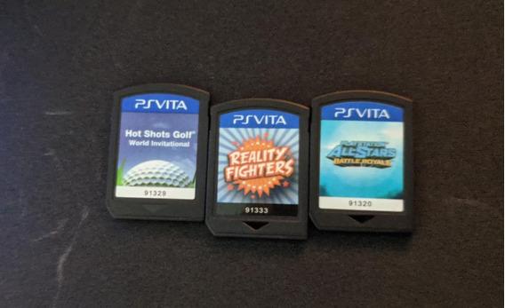 3 Jogos Psvita Playstation All-stars+golf+ Rfigthers Ps Vita
