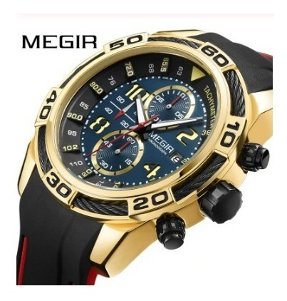 Relógio Masculino Megir Data Chronograph 2045