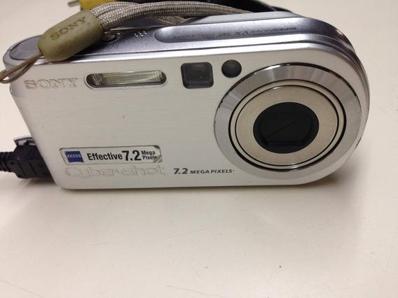 Camera Sony Cyber Shot 7.2 Mg Completa Perfeita