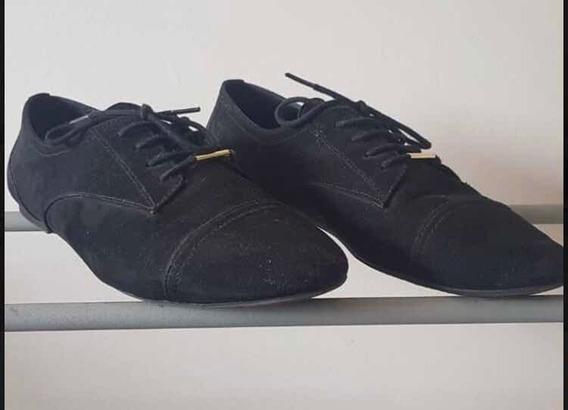 Zapatos Acordonados Aldo Gamuza Negro Talle 39