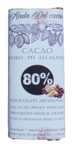 Chocolate Keto Vegano Stevia Diet (x10un) Sin Azucar Promo