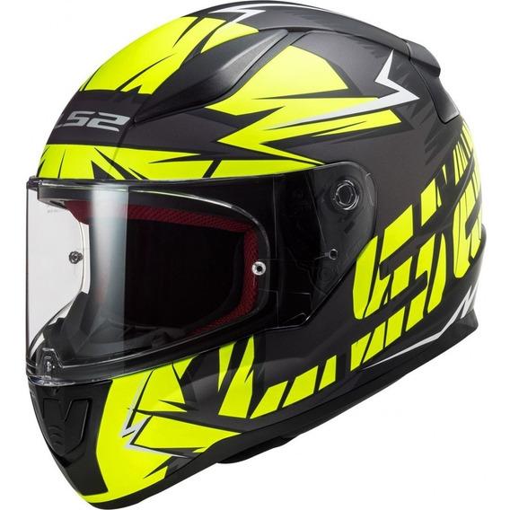 Casco Para Moto Ls2 Ff353 Rapid Cromo Amarillo Motocity 2020