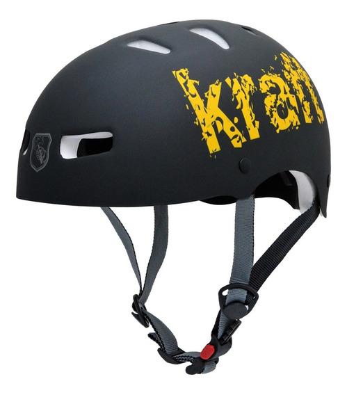 Capacete Kraft Bike Preto Pskate Patins Roller- Nbr16175