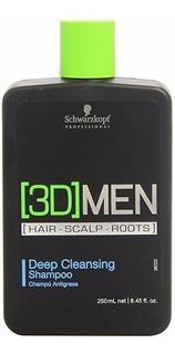 3d Men Deep Cleasing Shampoo 250 Ml Schwarzkopf
