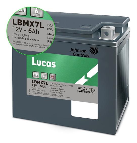 Bateria De Moto Lucas 12v 5ah Lbmx7l Ecosteps