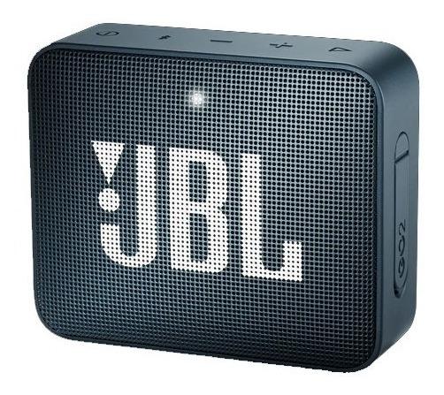 Caixa De Som Bluetooth Jbl Go 2 Navy À Prova Dágua Viva-voz
