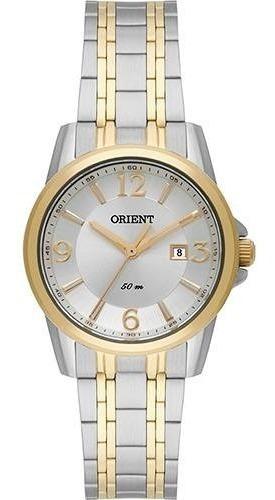 Relógio Feminino Orient Ftss1094 S2sk Prata Com Dourado