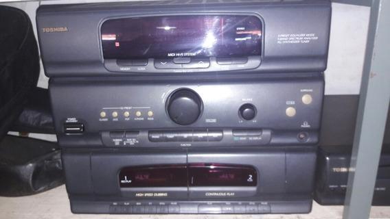Mini Sistem Toshiba Com Cd Player Barato Promoção 200 Reais