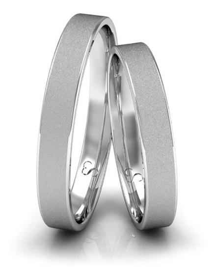 Alianças Namoro Prata Diamantadas 3mm 4g