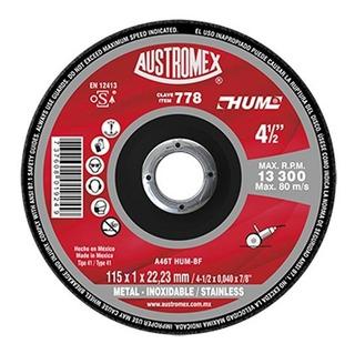 50 Pzas Disco Corte De Metal 4 1/2 Austromex 778