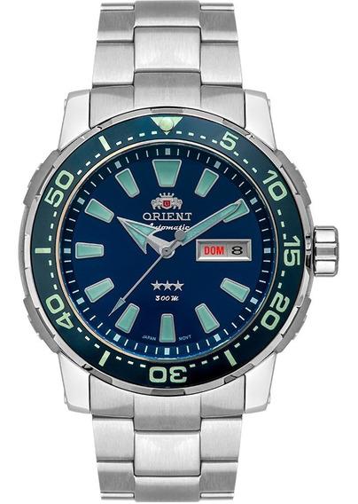 Relogio Orient Masculino Automatico Azul Diver 300m
