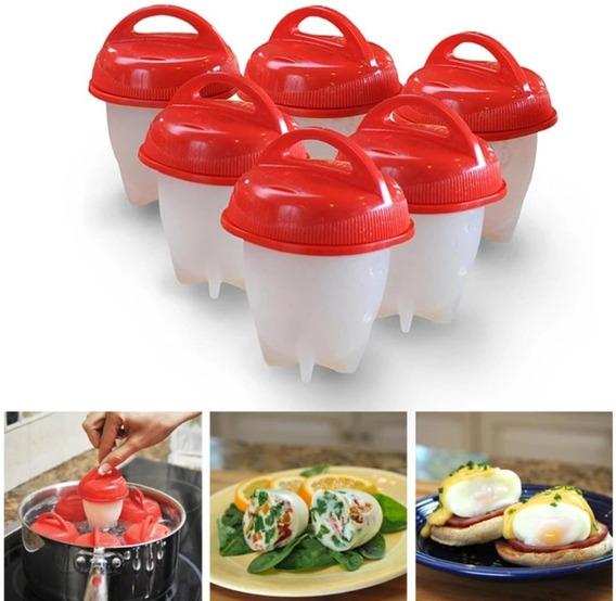 Kit Com 24 Formas Para Cozinhar Ovos Em Silicone Saudável