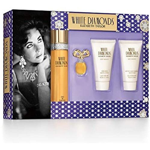Elizabeth Taylor White Diamonds Ladies Set De Regalo Con Spr