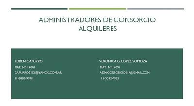 Administración De Consorcios Caba Y Pcia Bs As.