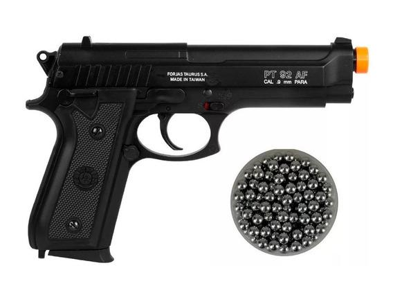 Pistola Airsoft Taurus Pt92 Slide Metal + Esferas Aluminio
